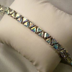 Suzanne Somers Lit Blue Iridescent CZ Bracelet NEW